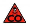 Detektor oxidu uhelnatého s alarmem hlásič 1D31 CO ALARM CO-04, k zjištění, měření úniku plynu, Indikátor poruchy a stavu baterie, citlivý elektrochemický senzor