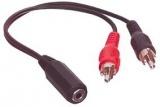Kabel Jack 3,5 stereo 3pin 2xCINCH-V/JACK 3,5-ZS 0,2m