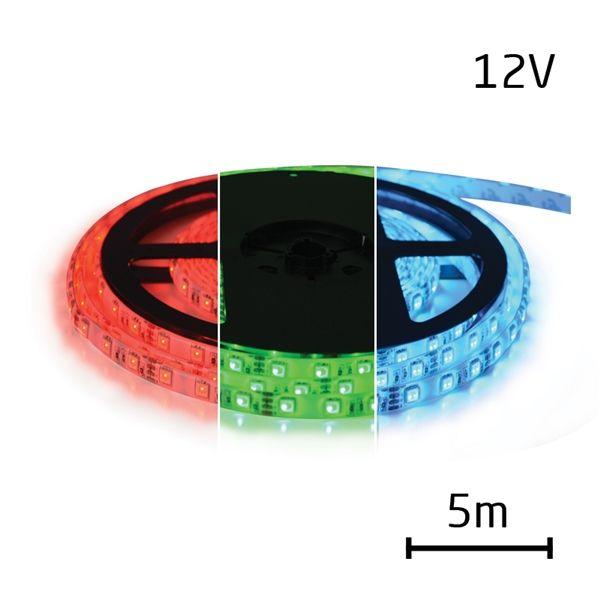 LED pásek RGB 3528 60LED/m IP65 max. 12W/m R-G-B multicolor (1ks=cívka 5m) zalitý,cena za cívku 5m