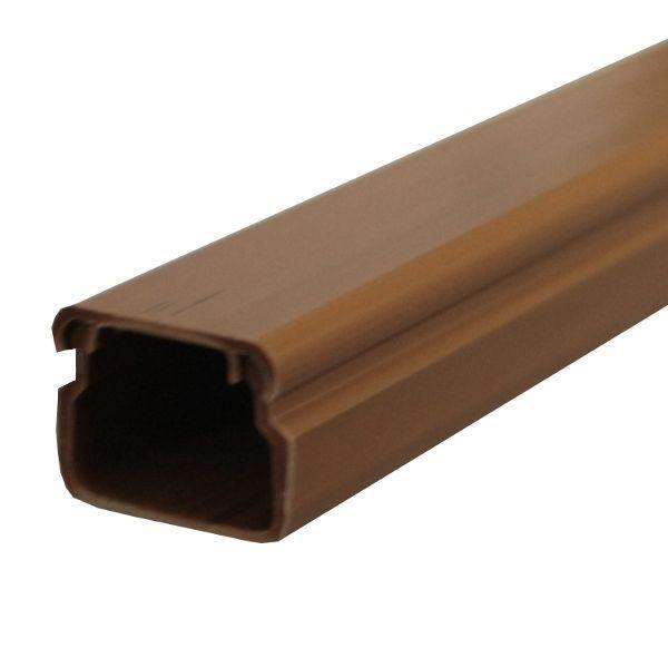 Lišta vkládací 17x17 mm EIP, hranatá, tmavě hnědá, imitace dřeva, pro montáž na stěnu nebo na strop, délka 2m