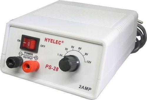 Napájecí zdroj stolní s regulací napětí, jednokanálový 1,5-12V/2A stejnosměrné stabilizované napětí ( 1,5 ; 3 ; 5 ; 6 ; 9 a 12V)