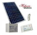 Solární set-solární panel 30Wp, 12V/22Ah baterie