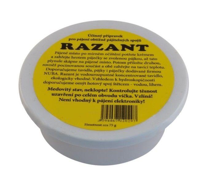 Pájecí krém RAZANT v kelímku - tavidlo pro pájení 75g, kalafuna