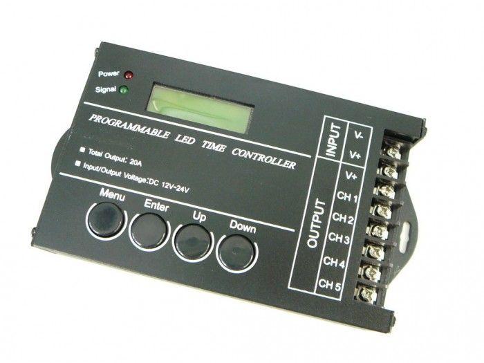 Programovatelný LED ovladač pro 5 samostatných okruhů USB 5CH 20A
