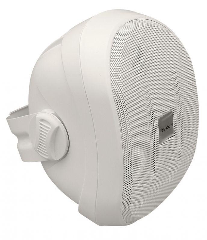 Reprosoustava SP 412 s konzolou bílá, venkovní, vlhkuodolná bassreflexová ozvučnice z ABS, 40 / 70 W, 8 Ω, 87 dB, 75 – 20 000 Hz, konzola, 4″ polypropylenový bas. rep, 20 mm výš. rep. s textilní kalot
