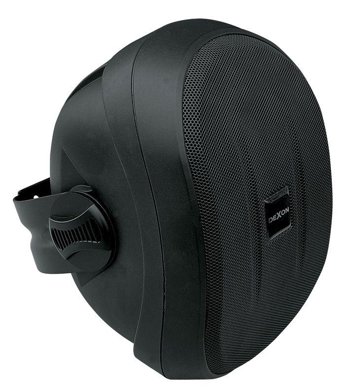 Reprosoustava SP 412 s konzolou černá, venkovní, vlhkuodolná bassreflexová ozvučnice z ABS, 40 / 70 W, 8 Ω, 87 dB, 75 – 20 000 Hz, konzola, 4″ polypropylenový bas. rep, 20 mm výš. rep. s textilní kalo