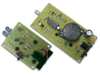 Stavebnice elektronická INFRA červená ZÁVORA MK120, optická, brána, detekce - snímání pohybu s zvukovou akustickou signalizací
