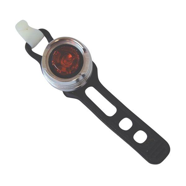 Svítilna na kolo 1x LED, zadní červené světlo, 2x CR2032 (součást balení), vodotěsné pouzdro (IP44)