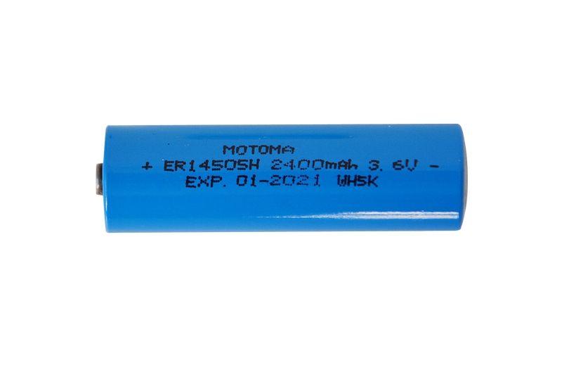 Baterie Lithiová nabíjecí článek 14500/14505 lithiová 3.6V, 2400mAh, AA, R6, MOTOMA, Primární lithiový článek (NENABÍJECÍ), s výběžkem kontaktem