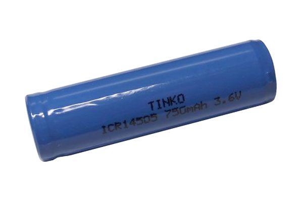 Baterie Lithiová nabíjecí článek LiFePO4 IFR14505, napětí 3,6V/750mAh, bez výběžku kontaktu