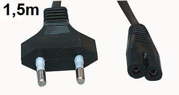 Flexi šňůra 230V AC síťový přívod k radiomagnetofonu, 250 V / 2.5 A max., 1,5 m
