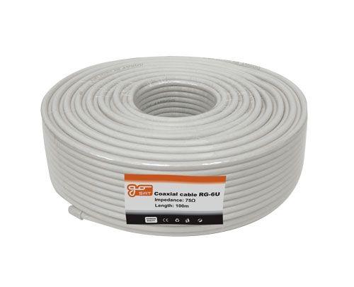 Koaxiální kabel Gosat RG6U 75 Ohm, vnější průměr 6,8mm