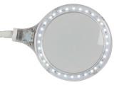 LAMPA s lupou 32LED 4W BÍLÁ, kulatá, 5 dioptrie, uchycení svorkou, se skleněnou čočkou, precizní