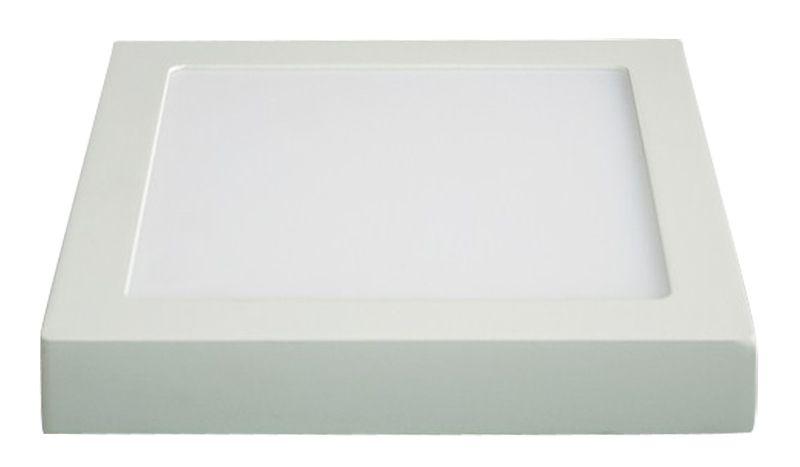 LED panel přisazený, 24W, 1800lm, 3000K teplá bílá, čtvercový, bílý