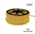LED pásek 230V, 5050 60LED/m IP67 max. 14.4W/m TEPLÁ