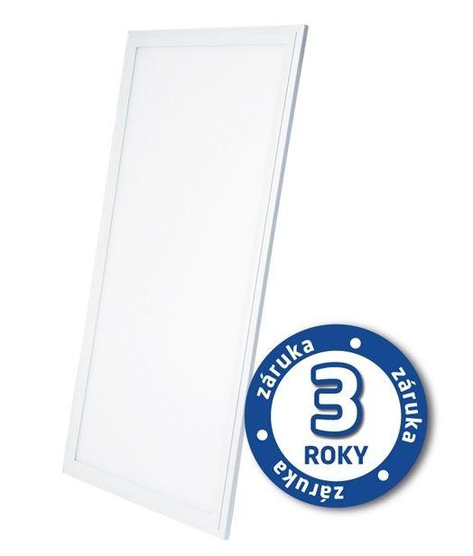 LED světelný panel 40W, 30x60cm, 2900lm, 6000K, studená bílá, odélník, bílý rám, obdélník, pro instalaci do stropu pomocí ocelových lanek nebo kazetového stropu