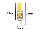 LED žárovka 12V DC 3W / 180° patice G4, náhrada 25W halogenu,