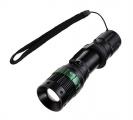 Svítilna LED (3W) ''CREE'' (3xAAA) kov, fokus, černá WL09