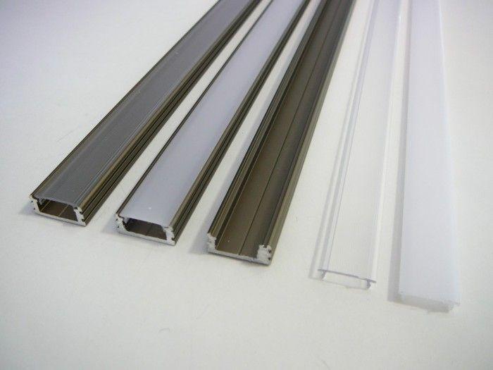 AL lišta profil N6 bronzový k přisazení pro LED pásky + nacvakávací plexi délka -