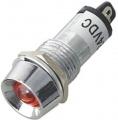 Kontrolka LED 12V DC @14mm červená (