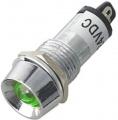 Kontrolka LED 12V DC @14mm zelená (