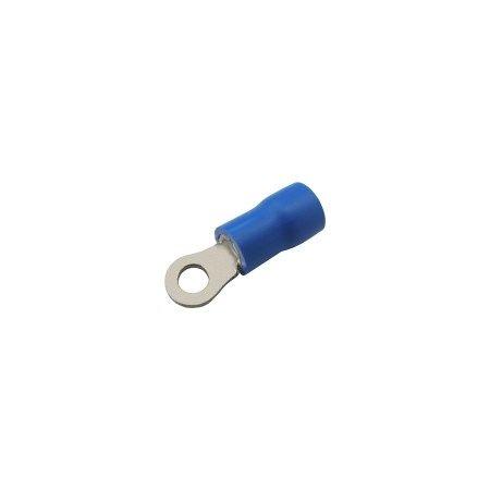 Očko kabelové izolované 3.2mm, vodič 1.5-2.5mm modré, PVC