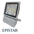 Reflektor LED venkovní 100W/8000lm EPISTAR, MCOB, AC 230V, STUDENÁ, šedý