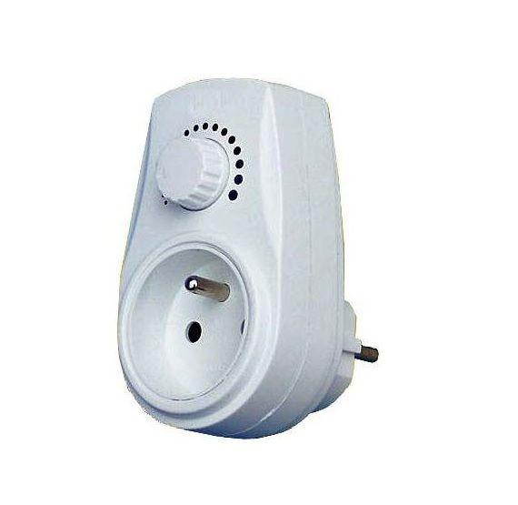 Stmívač regulátor do zásuvky H342, 230V/275W, potenciometr, regulace otáček, výkonu