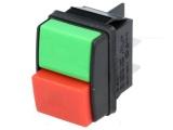 Tlačítko-spínač s aretací R13/537A-R/G 250VAC/10A