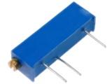PM19 10k Trimr ležatý víceotáčkový cermentový 0,75W 19 x 4,8 x 4,8mm
