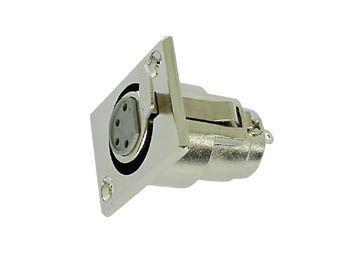 CANON XLR 4ZP Mikrofonní konektor-zásuvka na panel 4-piny, stŕíbrná