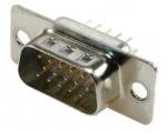 DS15VP3 konektor CANON 15 3ř.vidlice přímá DPS