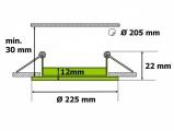 LED panel L- mini 18W kulatý do podhledu + trafo 230V vyberte variantu