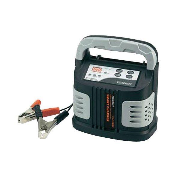 Nabíječka autobaterií VCW 12000 Voltcraft, 12V, Nabíjecí proud (max.): 2/6/12A , profesionální, mikroprocesorem řízená, LED indikace, ochrana proti zkratu, přepólování a přehřátí, krokosvorky, automat
