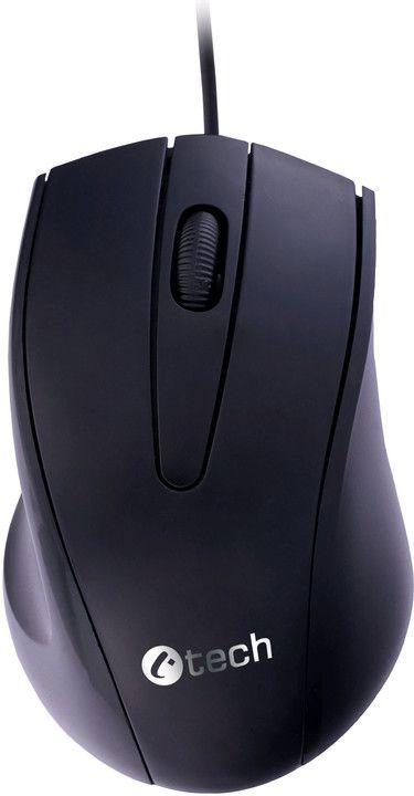 PC myš C-TECH WM-07, černá, optická USB konektor, černá, drátová