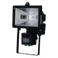 Reflektor Halogen 150W s PIR senzorem černý