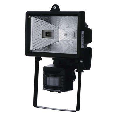 Reflektor 150W s PIR senzorem černý