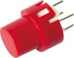 Tlačítko DT6R rudé spínací do DPS 32V/100mA
