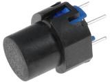 Tlačítko DT6Č černé spínací do DPS 32V/100mA