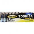 Baterie AA ( LR06 ) alkalická TOSHIBA 12ks