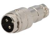 XLR3VK-ŠR 3-piny MIC vidlice na kabel