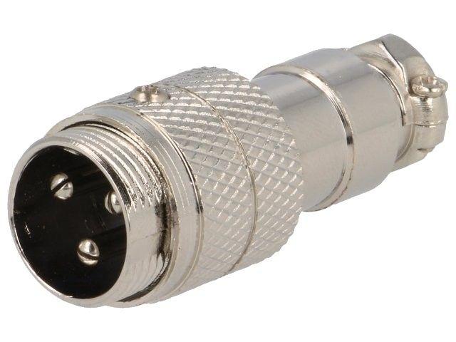XLR 3VK-ŠR Mikrofonní konektor-vidlice na kabel 3-piny šroubovací aretace