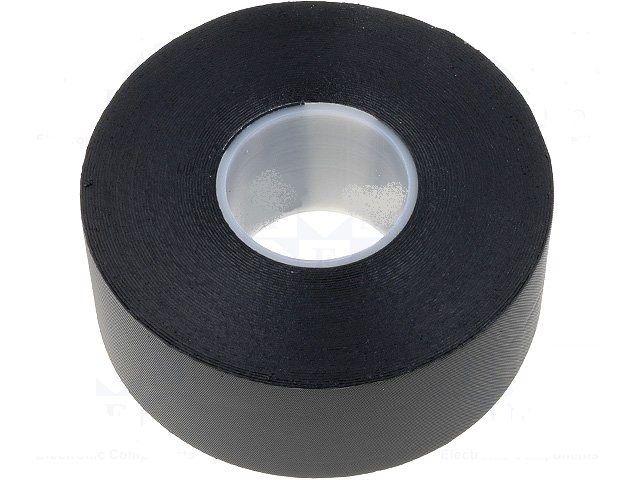 Izolační páska ROTUNDA 19x0.75mm x 10m černá, Gumová (PIB) samovulkanizující, Po omotání se sama spojí a vytvoří vodotěsnou izolaci