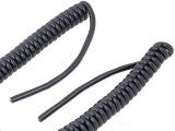 Kabel spirální kroucený 3x1mm2 délka 0,5m - 2m černý