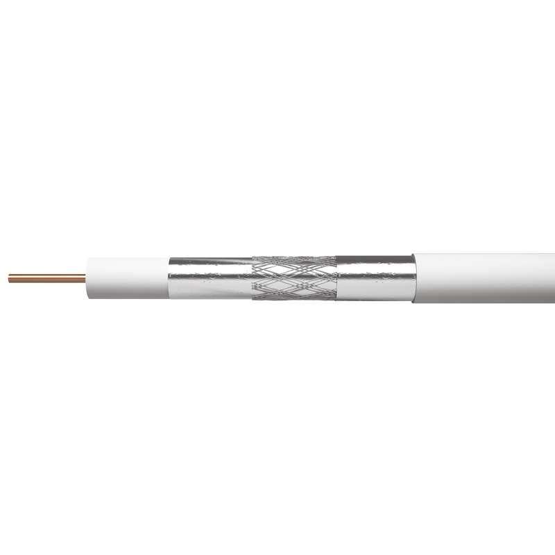 Koaxiální kabel CB500 75 Ohm, vnitřní vodič měď (Cu), průměr 5,5mm, tenký