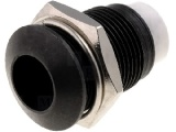 Objímka RTM8080KB pro LED @8mm kovová vypouklá