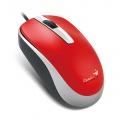 Myš PC GENIUS DX-120 USB červená, kabelová