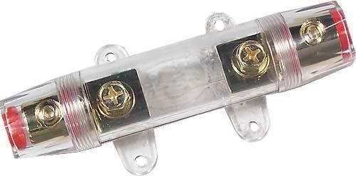 Pojistkové pouzdro držák pro plochou autopojistku, kvalitní precizní, Max. proud: 150A, na kabel s krytem, pro AUDIO aparatury