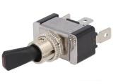 Přepínač páčkový 2pol./3pin ON-OFF 12V/20A LED červená