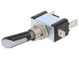 Přepínač páčkový 2pol./3pin ON-OFF 12V/30A LED červená